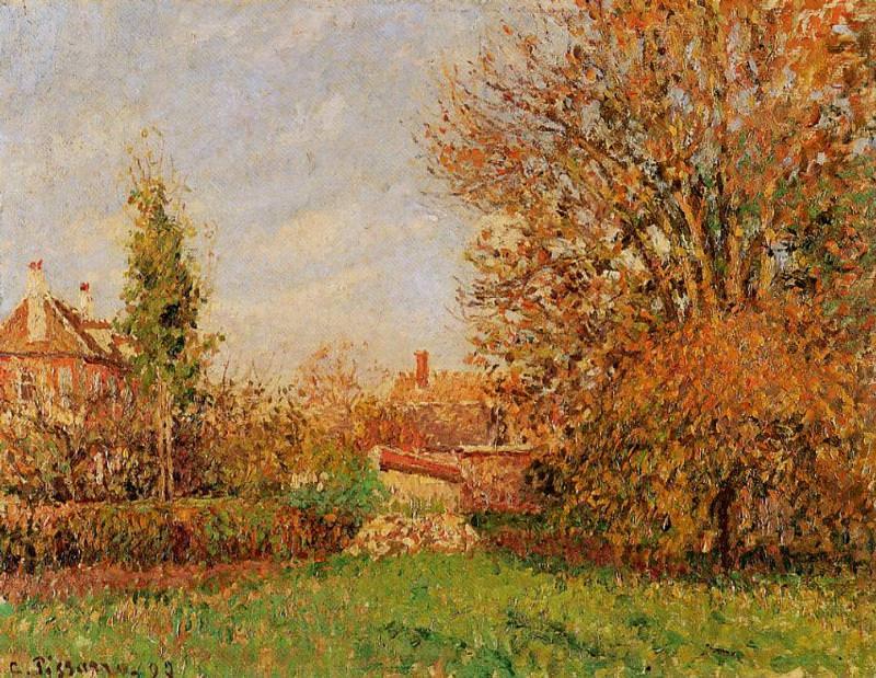 Autunm in Eragny. (1899). Camille Pissarro