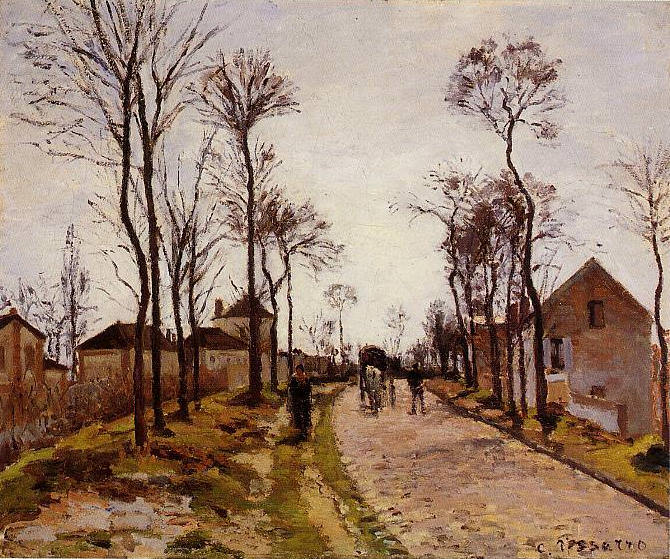 The Road to Caint-Cyr at Louveciennes. (1870). Camille Pissarro