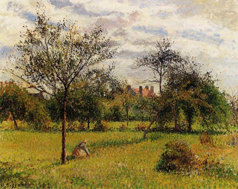 Morning, Autumn Sunlight, Eragny. (1900). Camille Pissarro