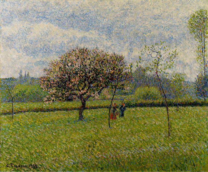 Цветущие яблони в Эраньи (1888). Камиль Писсарро