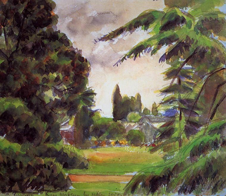 Kew Gardens, the LIttle Greenhouse. (1892). Camille Pissarro