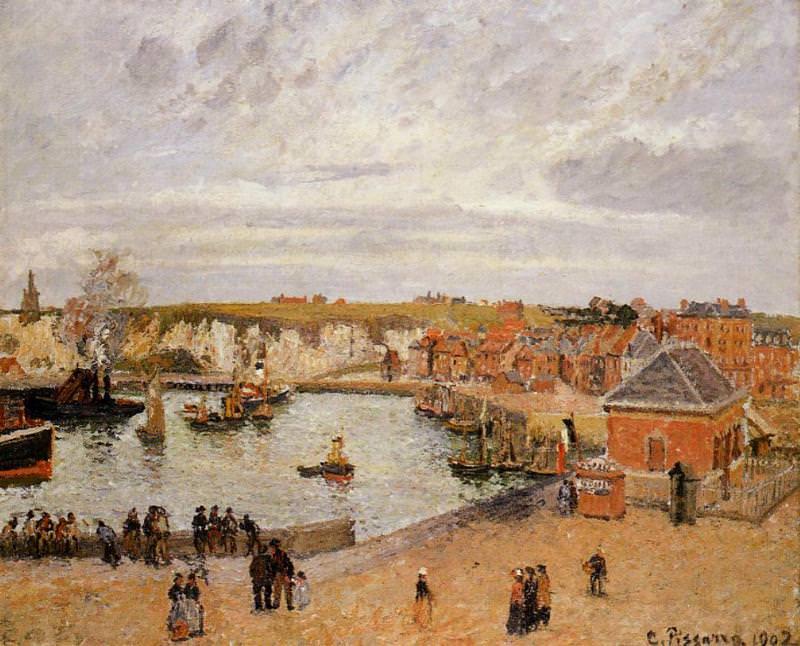The Port of Dieppe. (1902). Camille Pissarro
