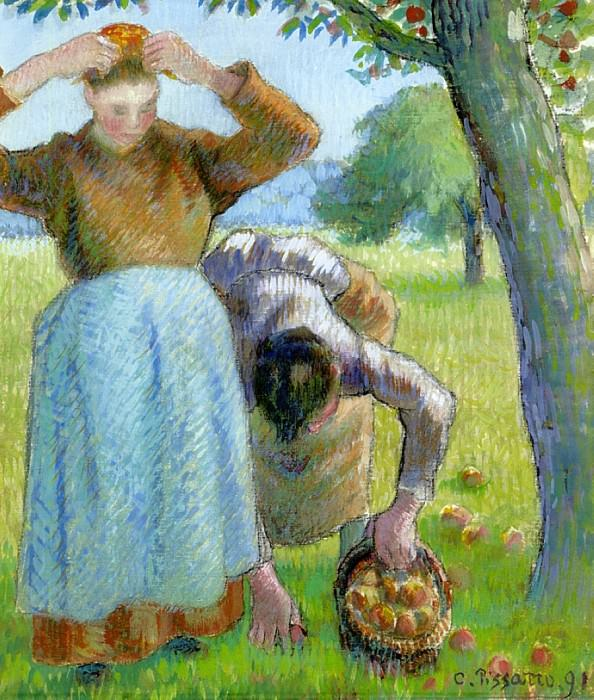 Apple Gatherers. (1891). Camille Pissarro
