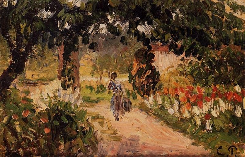 Garden at Eragny.. Camille Pissarro
