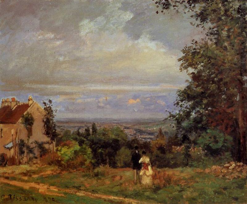 Пейзаж вблизи Лувесьена (1870). Камиль Писсарро
