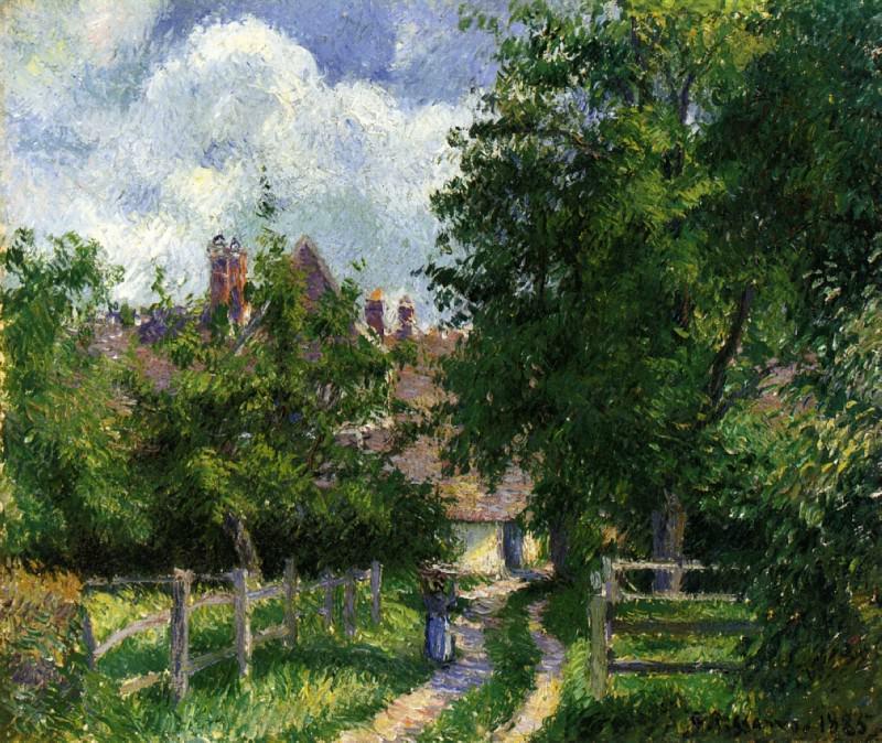 Neaufles-Sant-Martin, near Gisors. (1885). Camille Pissarro
