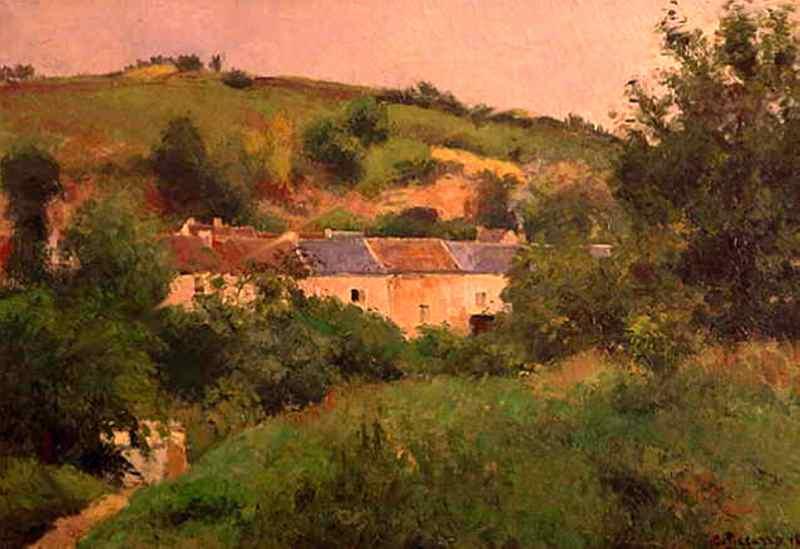 Village path. (1875). Camille Pissarro