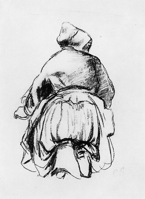 Kneeling woman. Camille Pissarro