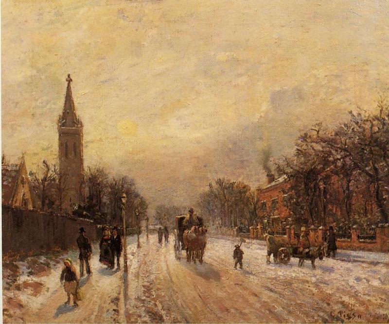 All Saints Church, Upper Norwood. (1871). Camille Pissarro