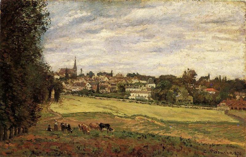 Вид Марли-ле-Руа (1870). Камиль Писсарро