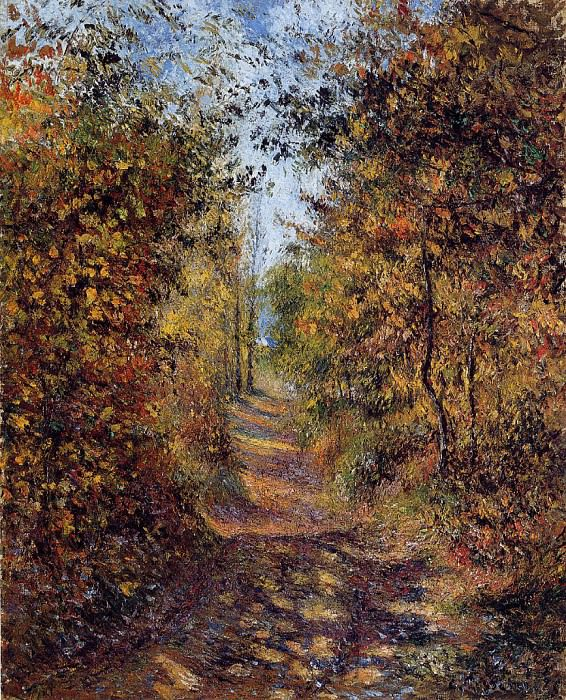 A Path in the Woods, Pontoise. (1879). Camille Pissarro