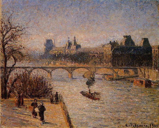 The Louvre 2. (1901). Camille Pissarro