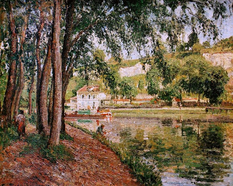 Road along the Loing canal. Camille Pissarro