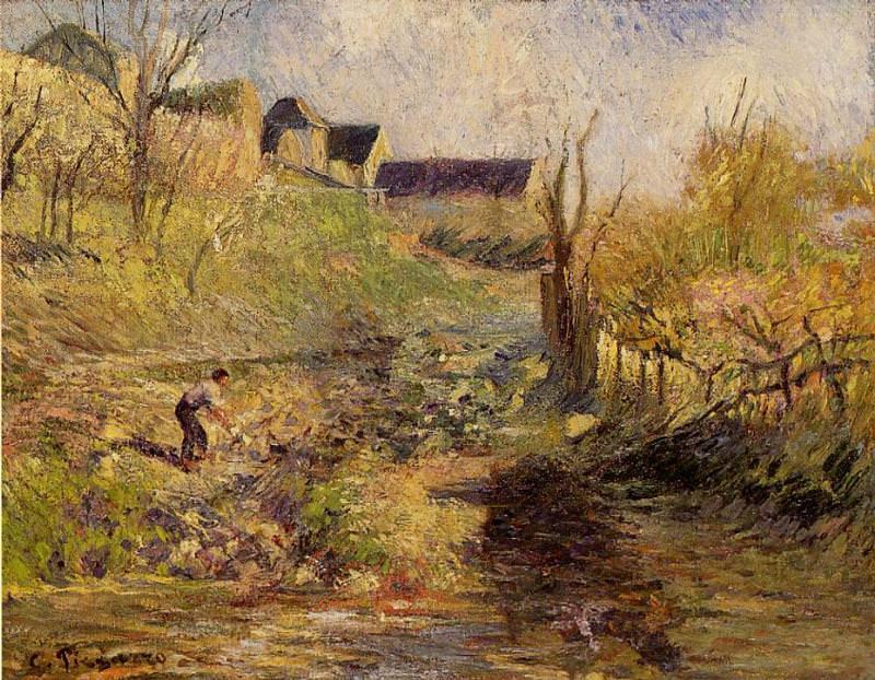 Пейзаж рядом с Осни (1883). Камиль Писсарро