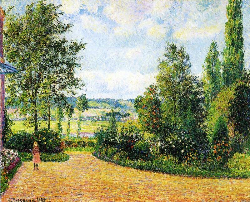 Mirbeaus Garden, the Terrace. (1892). Camille Pissarro