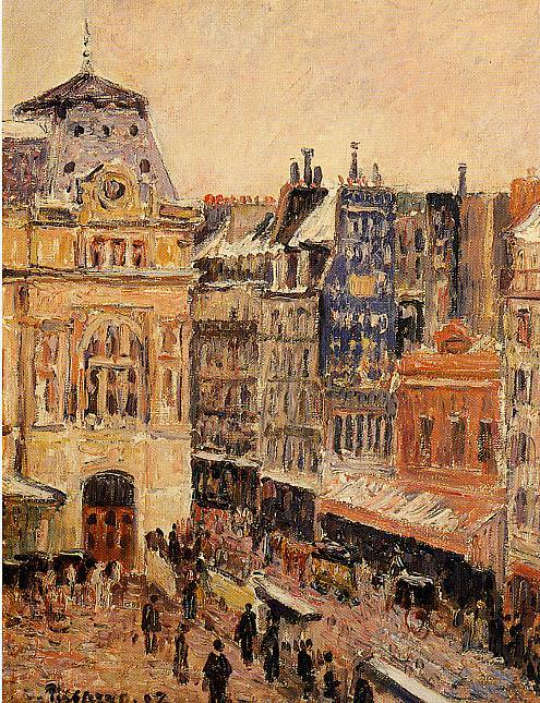 View of Paris, Rue dAmsterdam. (1897). Camille Pissarro
