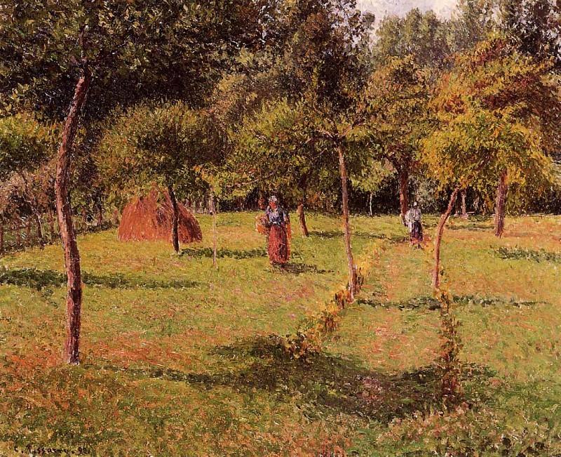 Enclosed Field at Eragny. (1896). Camille Pissarro