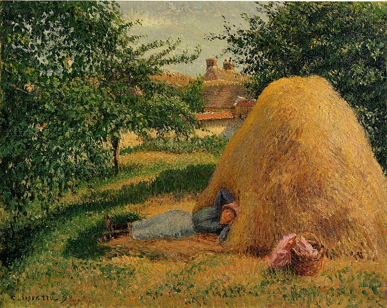 The Siesta. (1899). Camille Pissarro