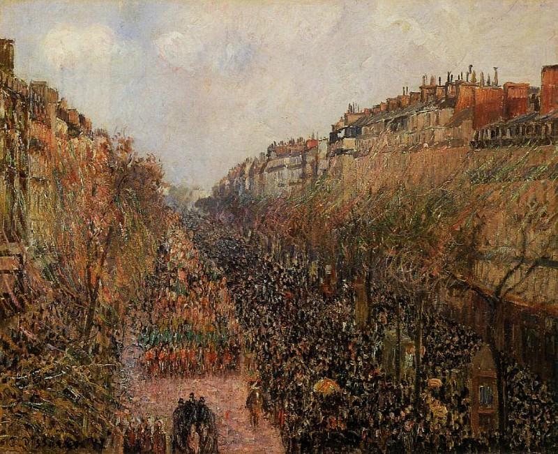 Boulevard Montmartre - Mardi-Gras. (1897). Camille Pissarro