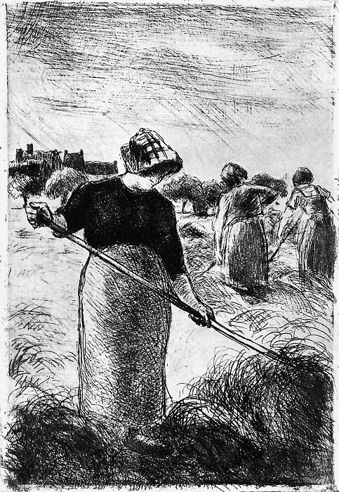 Заготовщица сена. Камиль Писсарро