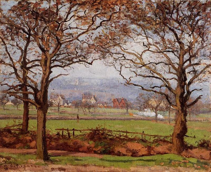 Near Sydenham Hill, Looking towards Lower Norwood. (1871). Camille Pissarro