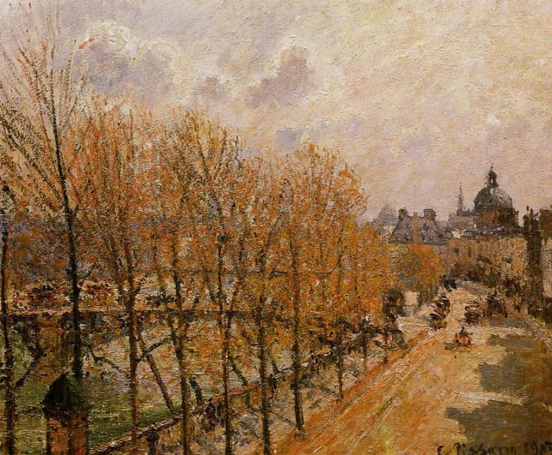Quai Malaquais - Morning, Sun. (1903). Camille Pissarro