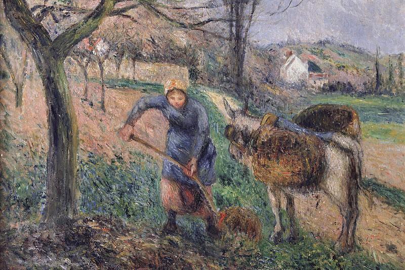Landscape with a Donkey, Pissarro - 1600x1200 - ID 7576. Camille Pissarro
