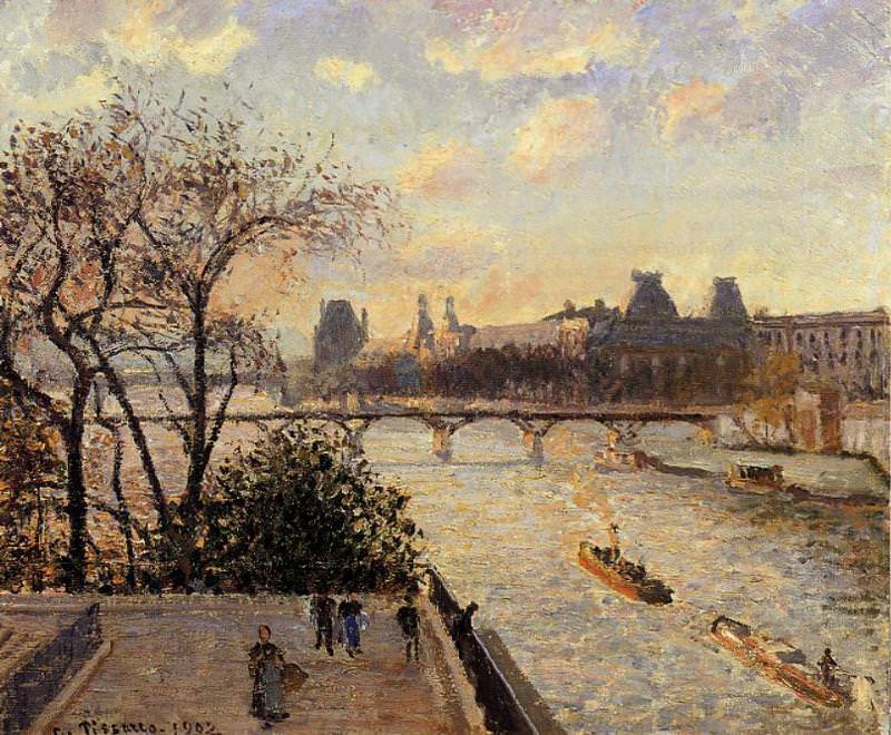 The Louvre and the Seine from the Pont-Neuf. (1902). Camille Pissarro