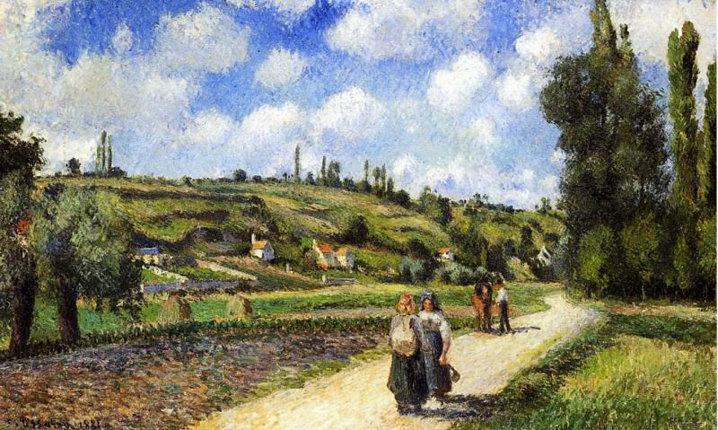 Landscape near Pontoise, the Auvers Road. (1881). Camille Pissarro
