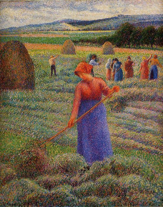 Haymakers at Eragny. (1889). Camille Pissarro