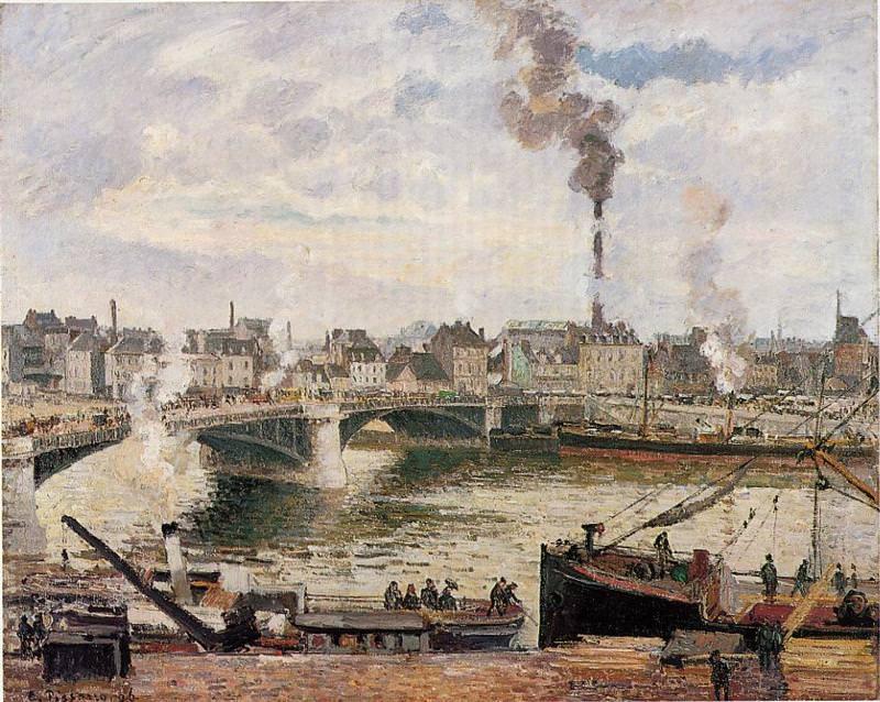 The Great Bridge, Rouen. (1896). Camille Pissarro