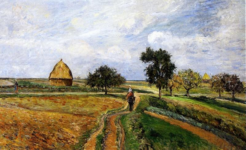 The Old Ennery Road in Pontoise. (1877). Camille Pissarro