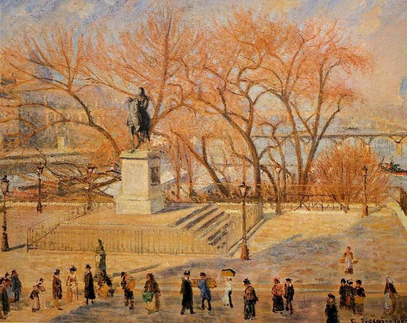 Square du Vert-Galant - Sunny Morning. (1902). Camille Pissarro