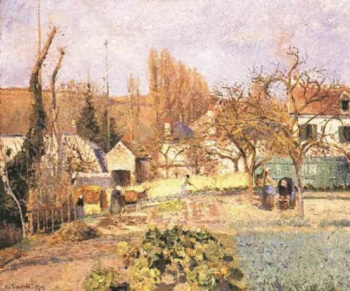 Kitchen Garden at the Hermitage, Pontoise. (1874). Camille Pissarro