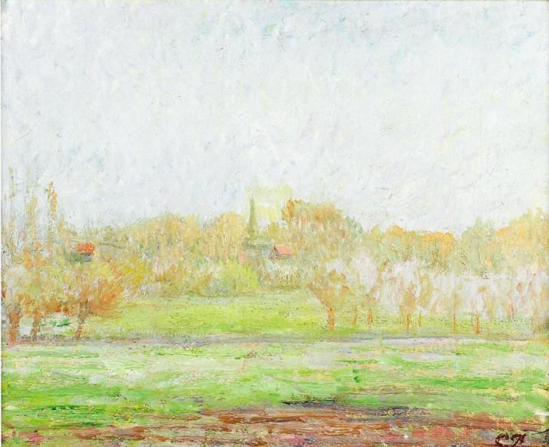 Fog in Eragny. (1890-99). Camille Pissarro