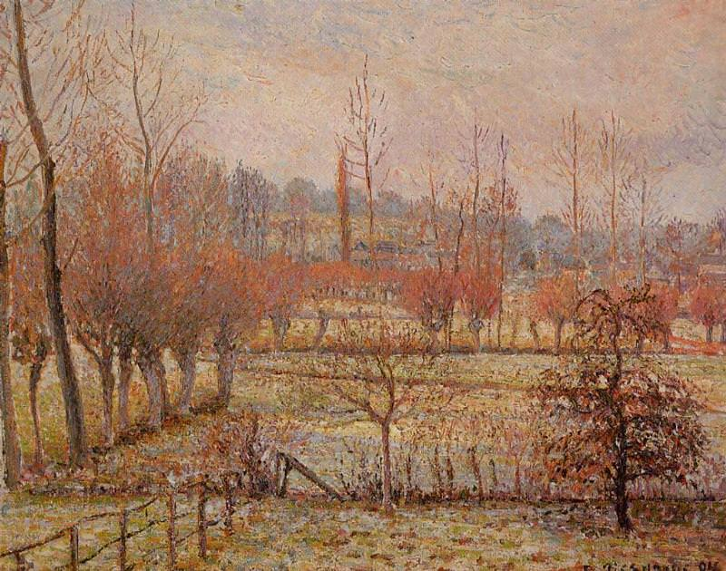 Hoarfrost, Morning. (1894). Camille Pissarro