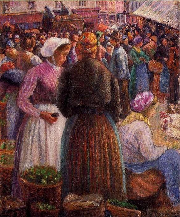 Market at Pontoise. (1895). Camille Pissarro