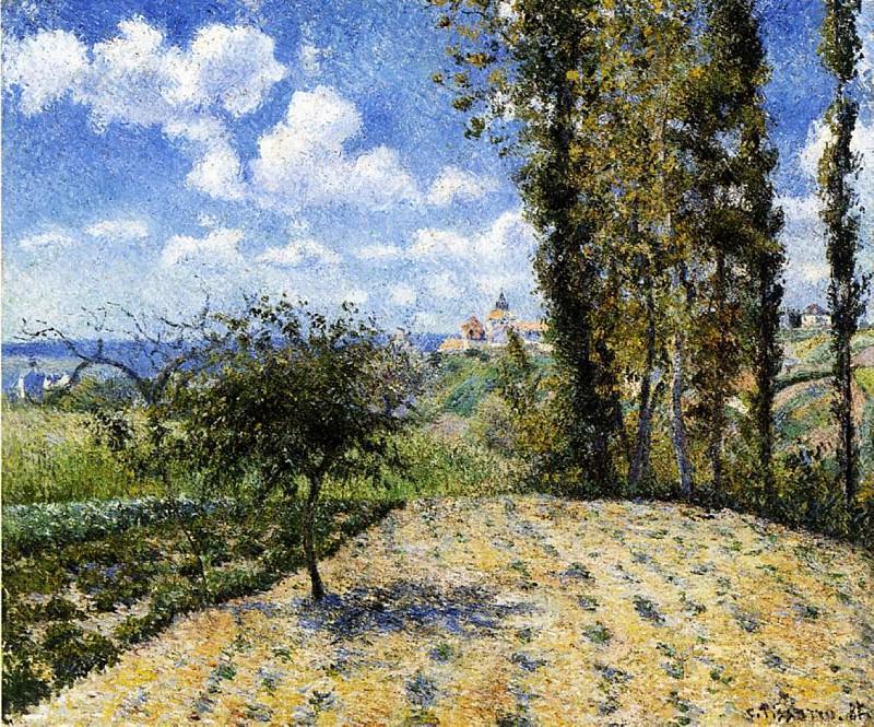 View toward the Pontoise Prison. (1881). Camille Pissarro