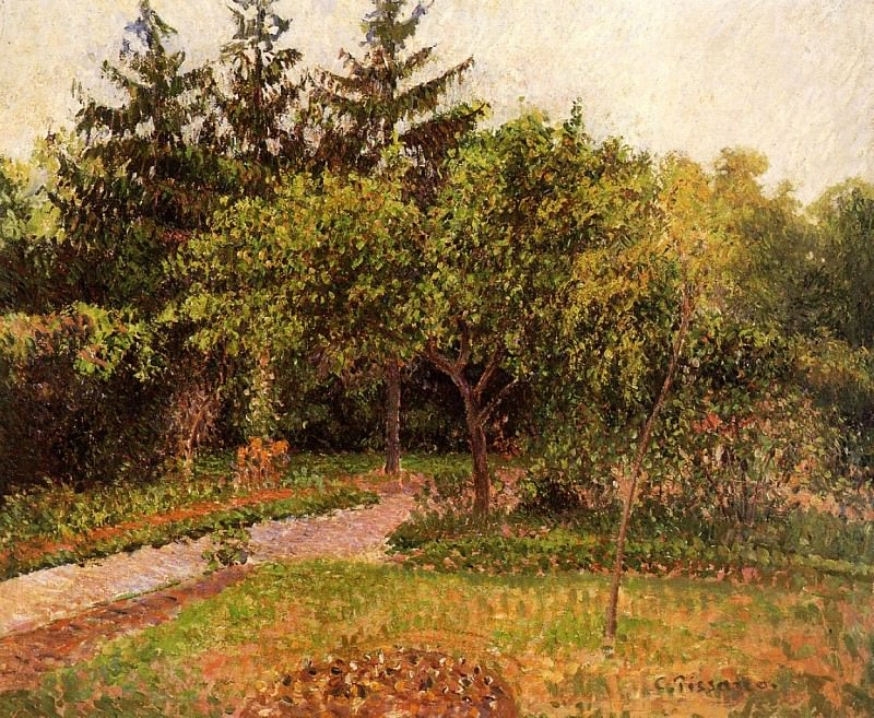 The Garden at Eragny. (1895). Camille Pissarro