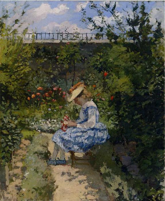 Jeanne in the Garden, Pontoise. (1872). Camille Pissarro