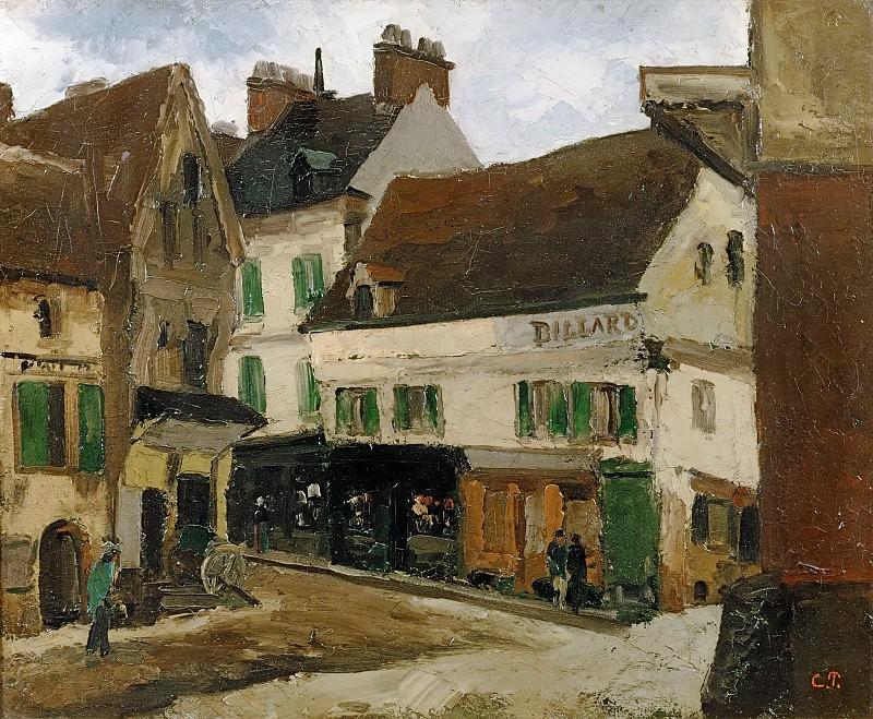 Square in La Roche-Guyon. Camille Pissarro
