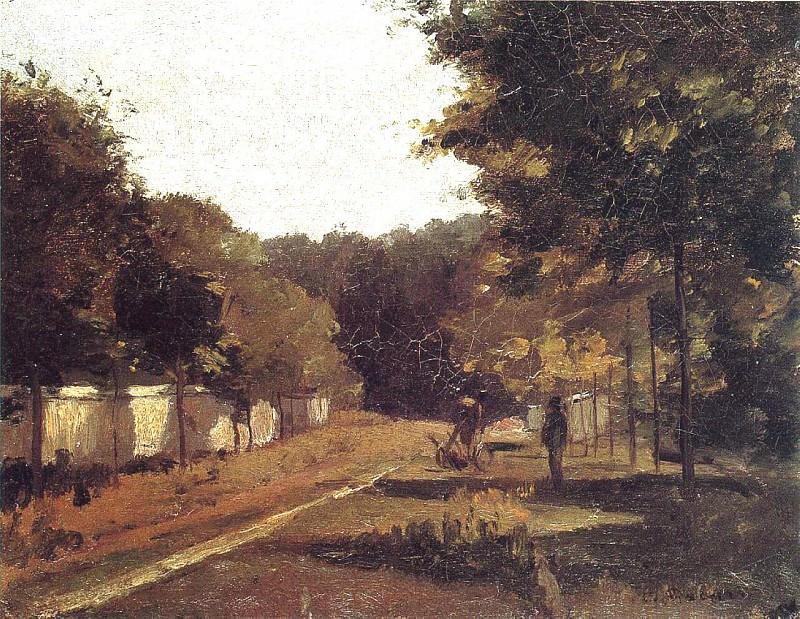 Landscape, Varenne-Saint-Hilaire. (1864-65). Camille Pissarro