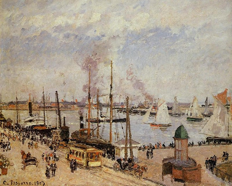 The Port of Le Havre - High Tide. (1903). Camille Pissarro