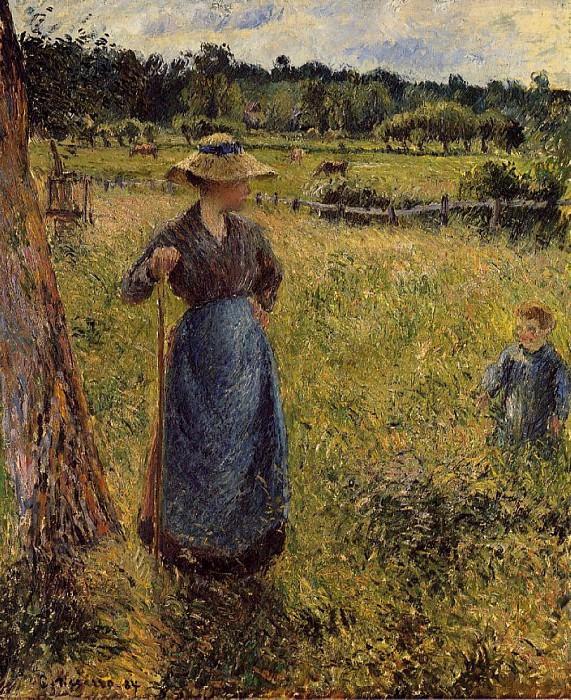 Женщина за ворошением сена (1884). Камиль Писсарро