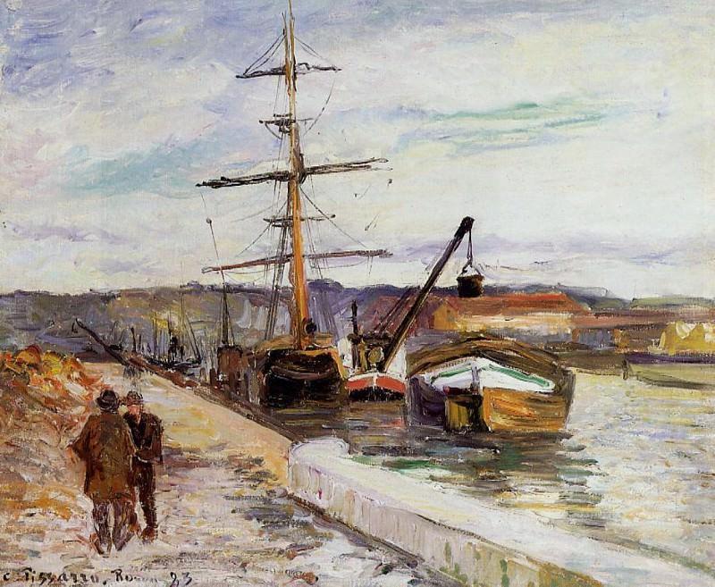 The Port of Rouen. (1883). Camille Pissarro