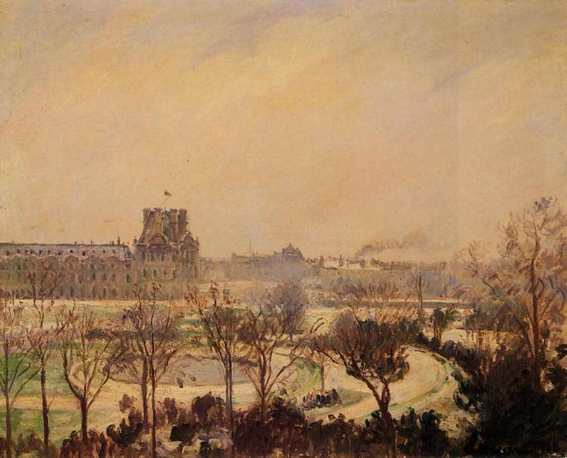 The Tuileries Gardens - Snow Effect. (1900). Камиль Писсарро