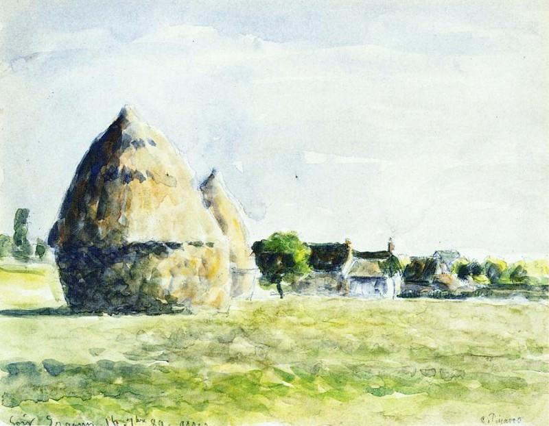 Стога сена (1889). Камиль Писсарро
