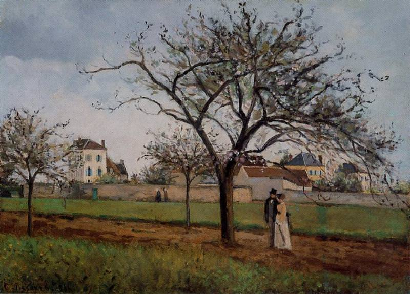 The House of Pere Gallien, Pontoise. (1866). Camille Pissarro
