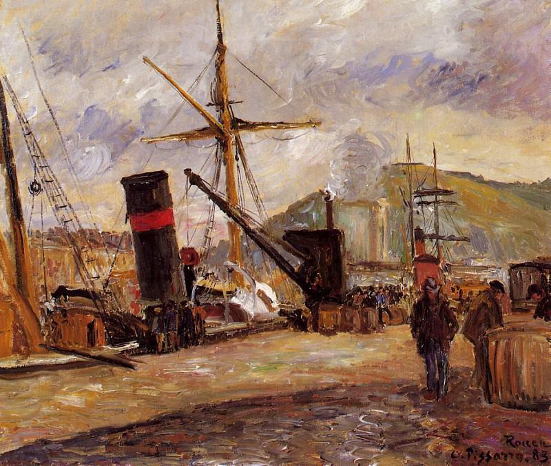 Steamboats. (1883). Camille Pissarro