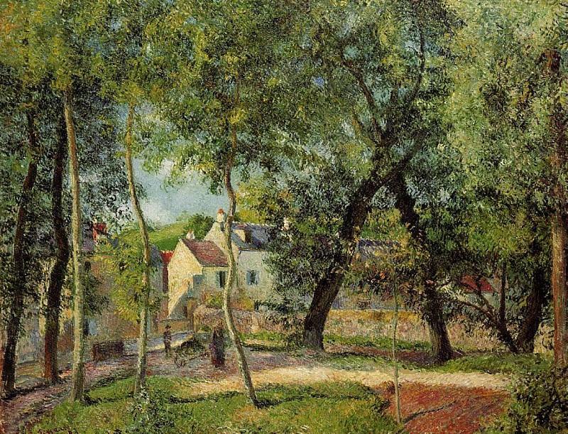 Пейзаж в Осни.... (1883). Камиль Писсарро